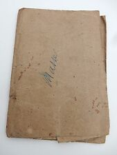 VERY OLD MILITARY PAPERS FRANCE    POOR STATE  MUCH HANDLING 1903 ERA