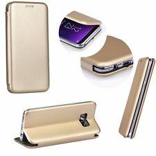 ^ Book Forcell Elegance Handytasche Cover Etui Tasche Gold Nokia X6 2018