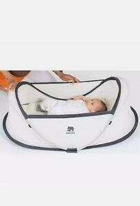DERYAN Pop-up Travel Cot with Mosquito Net Cream Baby Infant Travel Bed Crib.
