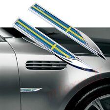 2X Car Door Body Fender Trim 3D Decal Sticker Sweden SE Nation Flag Emblem Badge