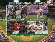Chad 2018 CTO Baseball Hall of Fame Harper Thome 4v M/S Sports Stamps