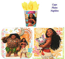 Disney Moana Birthday Party Pack of 32 pc ~ Plates Cups & Napkins ~Table Ware