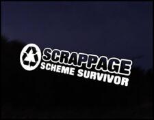 Scrappage Survivor JDM Funny Car Decal Euro Drift VAG VW DUB Vinyl