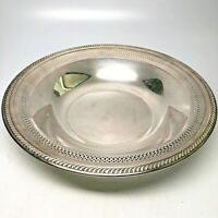 Silverplate Reticulated Serving Bowl w/Rope Rim FM Rogers Silver Co