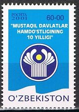 2001 Oezbekistan 431  - 10 jaar Gemeenschap van Onafhankelijke Staten