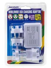 Worldwide Travel 4 USB Charging Adapter Aus Europe USA Japan US UK Adaptor Plug