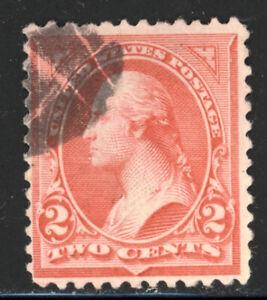 SCOTT 251 1895 2 CENT WASHINGTON REGULAR ISSUE TYPE II USED F!