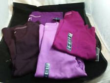 Lot of Four Short Sleeve Crew Neck Knit Shirts S M St. John's Bay Lands End NWT