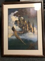 "Vintage Maxfield Parrish The Dinky Bird Original Art Deco Print Framed 28""X22"""