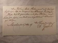 alter Beleg Dokument Handschrift Meschenbach Coburg Stahn Klavier 1919 Stempel
