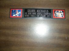 SHAWN MICHAELS (WWF) ENGRAVED NAMEPLATE FOR PHOTO/POSTER/GLOVES/TRUNKS
