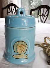 Vintage Baby Bottle Warmer Hankscraft Canada Blue Ceramic