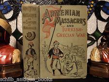 1896 Armenian Hamidian Massacres & Turkish War Sword of Mohammed Turkey Turks