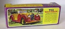 Repro Box Matchbox MOY Nr.11 1938 Lagonda Drophead Coupe Blisterbox