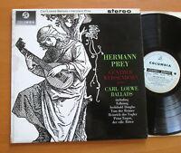 SAX 2511 ED1 Hermann Prey Carl Loewe Ballads Columbia B/S 1st + insert NM/VG