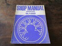Honda GL 1000 GL1000 1977 Shop Manual Werkstatt-Handbuch Reparaturanleitung