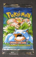 Pokemon Cards - 1st Edition Base Set Booster Pack - SEALED - Venusaur Artwork