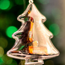 x100 Clear Christmas Tree Shaped Xmas Decorations Empty Fillable Bauble