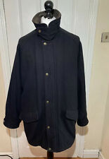 Gant USA Wool Park Avenue Dark Blue Pea Coat Jacket Men's Size Large