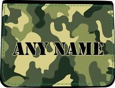 PERSONALISED CAMOUFLAGE PRINT FAUX LEATHER MENS WALLET BIRTHDAY XMAS GIFT