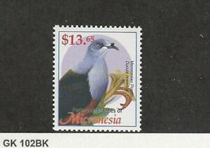 Micronesia, Postage Stamp, #537 Mint NH, 2002 Bird Pigeon, JFZ