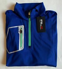 Nwt $125 Ralph Lauren Rlx Golf Stretchy 1/4 Zip Pullover Jacket Shirt Blue Sz L