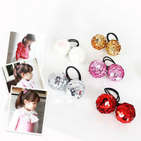Kids Girl Sequins Ball Elastic Rope Ring Hair Band Ties Ponytail Holder