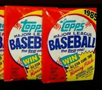 2 (two) 1985 TOPPS BBCE UNOPENED WAX PACKS!! From Sealed Box NICE CRISP CARDS!!!
