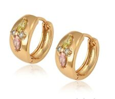 multicolor Synthetic Cubic Zirconia Design Women Girl fashion Hoop Earrings with