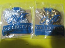 "2 Vintage New in package Avon 2-3"" refrigerator angel magnets 1 gold 1 silver"