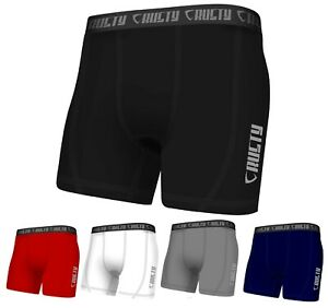 New Mens Compression Boxer Shorts Baselayers Sports Briefs skin fit gym pants