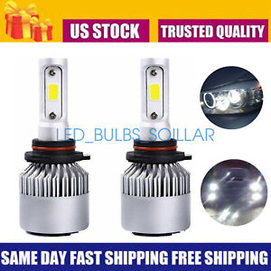 9005 HB3 LED Headlight Bulbs Kit Bright High/Low Beam 55W 6000K White