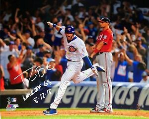 David Bote Cubs Signed Autographed 8x10 photo Reprint