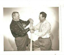 7x9 vintage photograph Dizzy Dean, Buddy Blattner, game of the weekscan