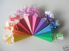 4x Mini Schultüte Tischdeko  Deko Einschulung   8 mögliche  Farben neu