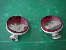 Lambretta Vespa coppia specchi per cupolino paravento biemme cornice rossa