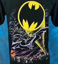 vintage 1988 BATMAN BAT SIGNAL GOTHAM CITY SKYLINE DC COMICS T-Shirt S/M 80s