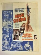 Vintage 1942 Movie Herald HIGH SIERRA Humphrey Bogart Ida Lupino Raoul Walsh