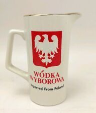 Wodka Wyborowa Imported From Poland Pitcher Vodka / Water Advertising Barware
