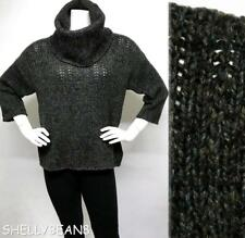 EILEEN FISHER Wool Cashmere Blend LARGE COWL Sweater MARLED Knit L M P SO CHIC!