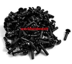 Black Nylon Push Rivets Fasteners for 2.0-3.0mm Thick Panel R3045