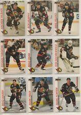 1992-93 Pro Set OTTAWA SENATORS Team Set - 9 Hockey Cards