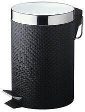 PVC Black Pedal Bin  - 3L