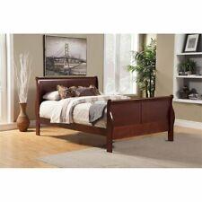 Alpine Furniture Louis Philippe Ii Queen Sleigh Bed in Cherry