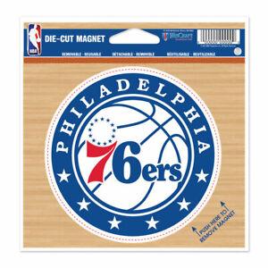 """PHILADELPHIA 76ERS DIE-CUT VINYL MAGNET 4"""" DIAMETER HIGH QUALITY NBA LICENSED"""