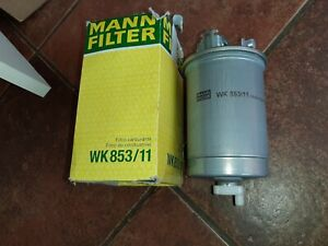 Original MANN WK853 / 11 fuel filter diesel filter for VW Sharan (7M8, 7M9, 7M6)