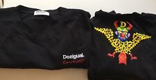 Desigual Couture Black T-shirt Quality With Back Design Limited Edition LARGE