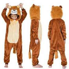 Lion kids Adult Flannel Pajamas Onesie2888 Cosplay Costume Parent-child clothing