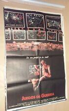 CF1 Original WAR GAMES Matthew Broderick MOVIE Poster Argentina 1983