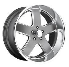 "CPP US Mags U118 Hustler Wheels Rims, 22x9"" front + 22x11"" rear, 5x5"", GRAY"